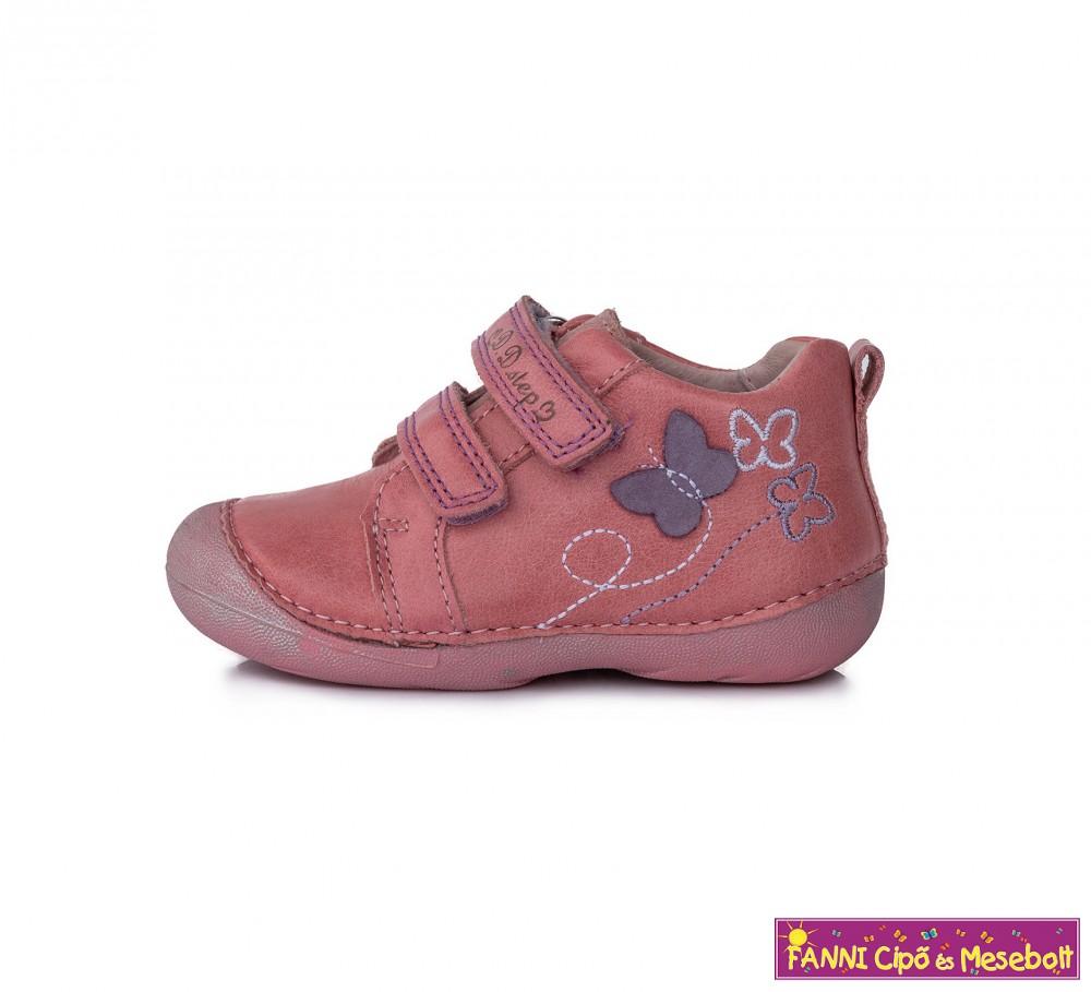 D.D. step lány gyerekcipő 19-24 rózsaszín-pillangós - Fanni cipő és ... 6076e6914f