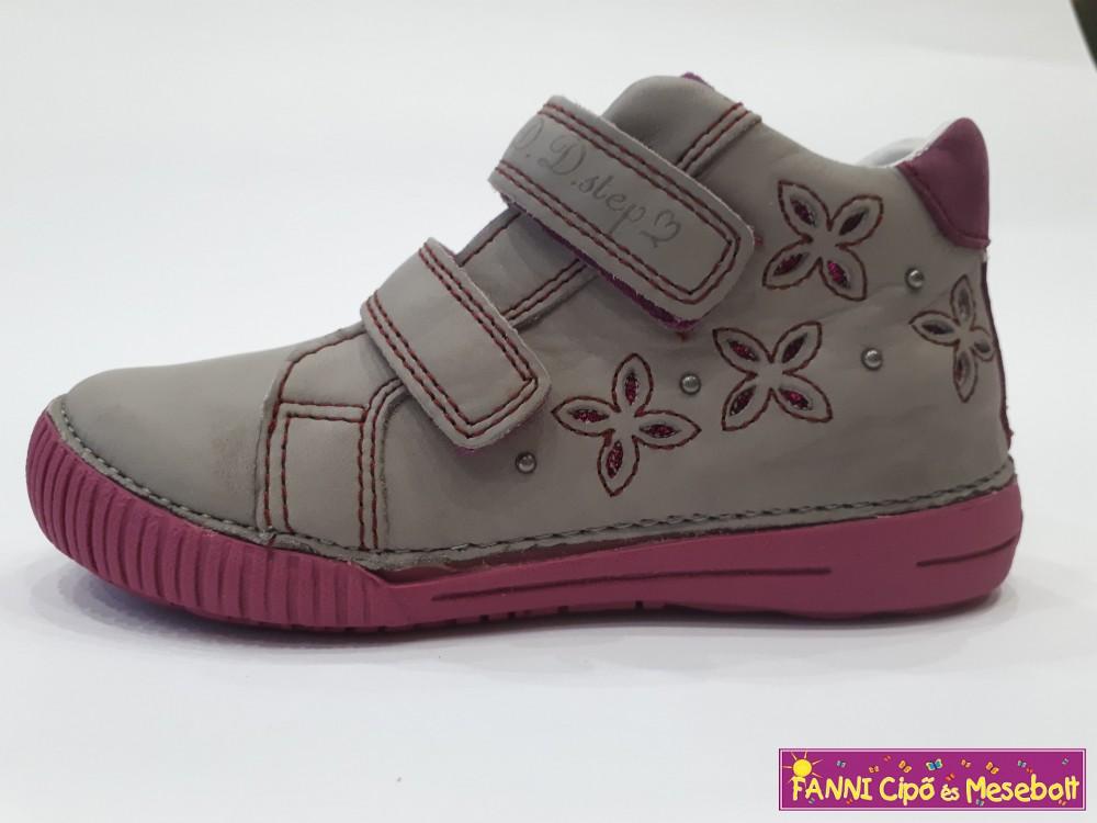 D.D. step lány gyerekcipő 25-30 szürke-pink - Fanni cipő és mesebolt cacbd1d835