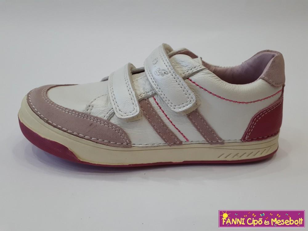 D.D. step lány gyerekcipő 31-36 fehér pink - Fanni cipő és mesebolt 7307d8b0f8
