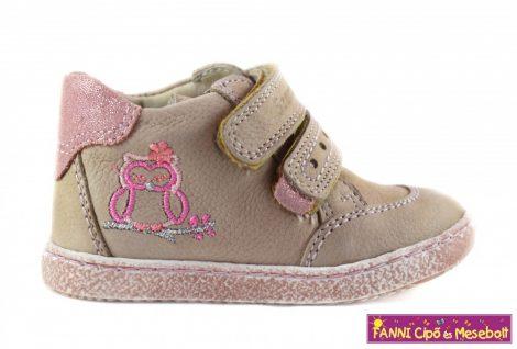 Szamos első lépés lány cipő 17-22 homok rózsa baglyos 52d4986886