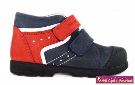 Szamos fiú szupinált gyerekcipő 25-30 kék/piros/fehér, 29,30