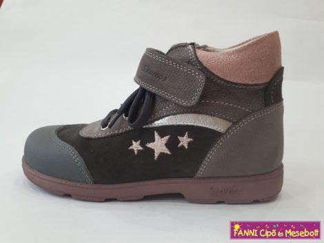 4d62b18ae6 Szamos lány szupinált gyerekcipő 31-35 szürke-rózsaszín, csillagos, fűzős -  Fanni cipő és mesebolt