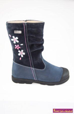 Szamos lány szupinált SzamTex/ vízálló téli bélelt csizma 25-30 kék virágos