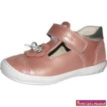 Szamos lány  felvezetőpántos szandálcipő 25-30 rózsa/ezüst-masnis