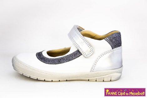Szamos lány szandálcipő/balerinacipő 25-30 fehér-ezüst