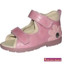 Szamos lány szupinált szandál 19-24 pink/homok-virágos
