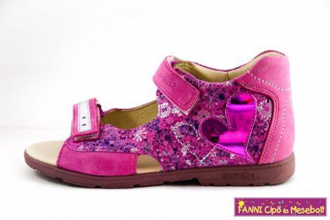 Szamos lány szupinált szandál 31-35 pink-virágos