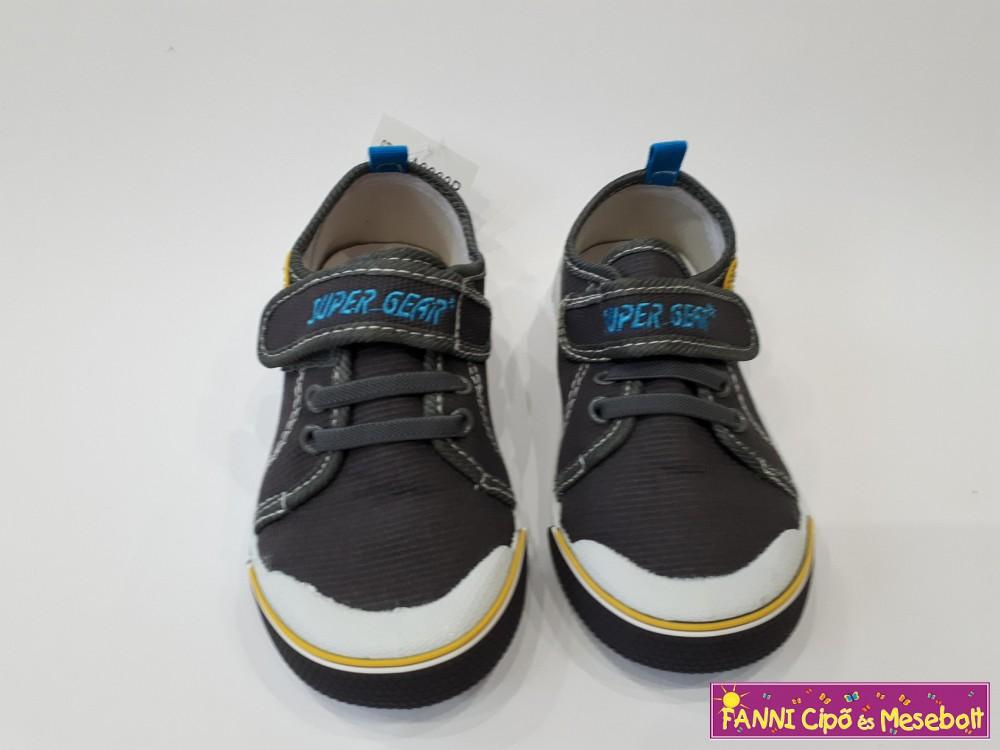 Super Gear fiú vászoncipő 26-31 szürke - Fanni cipő és mesebolt 56c89076b3