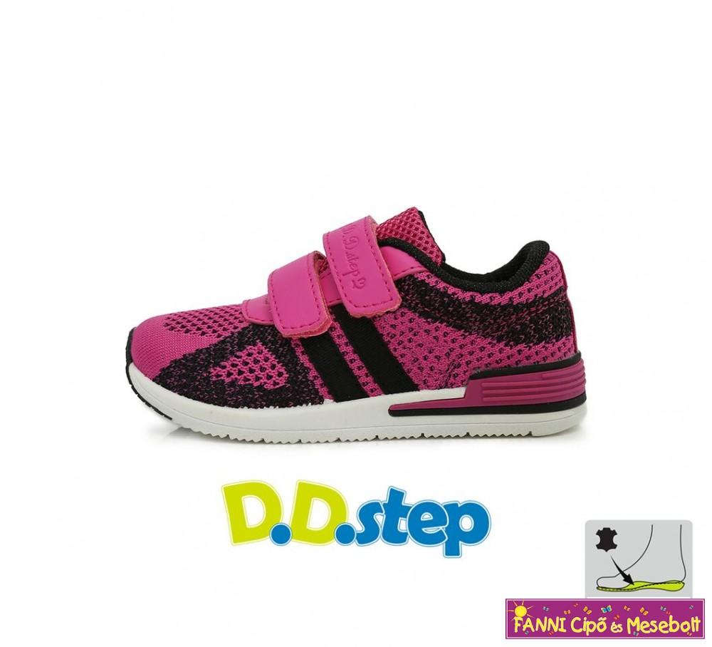 D.D. step lány vászon sportcipő 26-31 fekete-rózsaszín - Fanni cipő ... f2a84997d0
