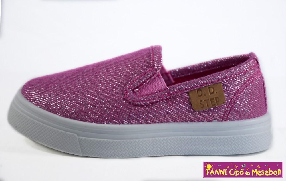 D.D. step lány vászoncipő 20-25 Metallic Pink - Fanni cipő és mesebolt acb832cbbb