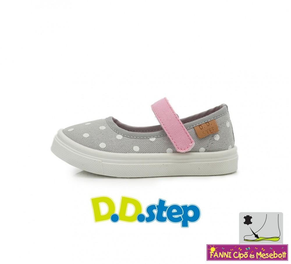 D.D. step lány vászoncipő 26-31 ezüst - Fanni cipő és mesebolt 2d9db7de03