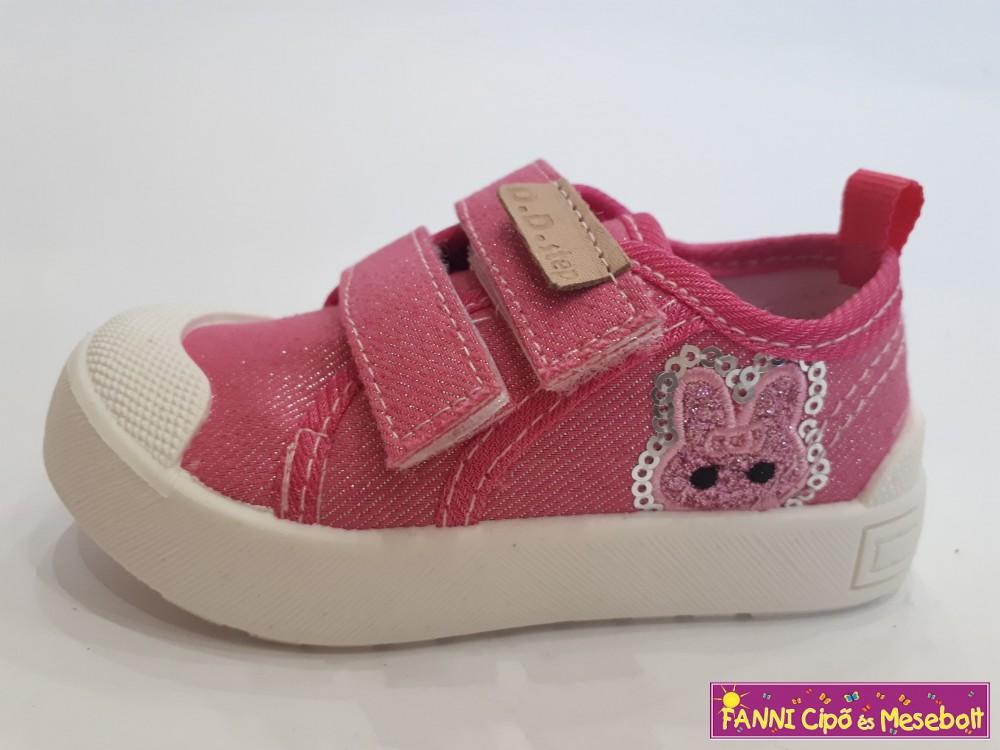 D.D.step lány vászoncipő 26-31 rózsaszín nyuszis - Fanni cipő és ... 91dd0e9d84