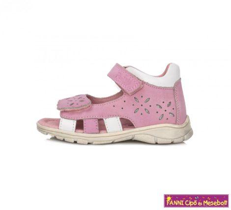 Ponte20 lány szupinált szandál 22-27 rózsaszín-fehér