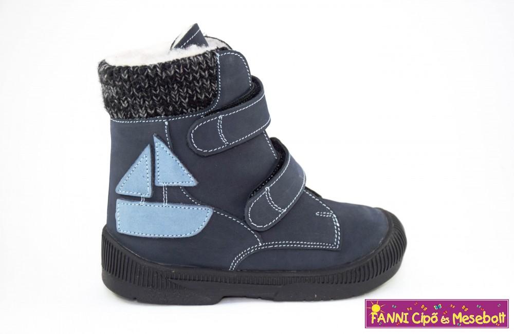 09b55284ab16 Maus fiú szupinált téli bélelt bakancs 25-30 kék-hajós - Fanni cipő ...