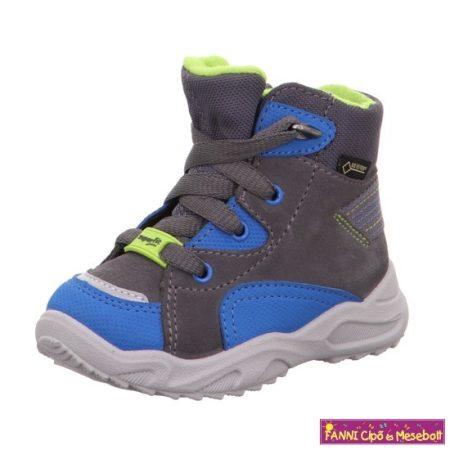 Superfit fiú GORE-TEx vízálló téli bélelt gyerekcipő 22-28 GLACIER szürke-kék