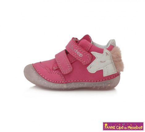 D.D. step lány gyerekcipő 19-24 s.pink unikornisos