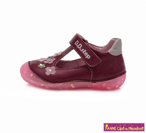 D.D. step lány szandálcipő/balerinacipő 19-24 Violet virágos