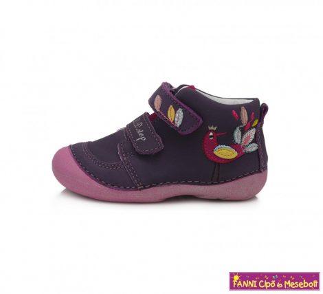 D.D. step lány gyerekcipő 19-24 lila-kismadaras