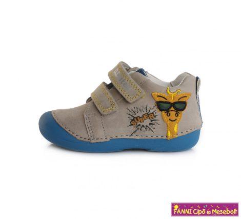 D.D. step fiú gyerekcipő 19-24 szürke-kék zsiráfos