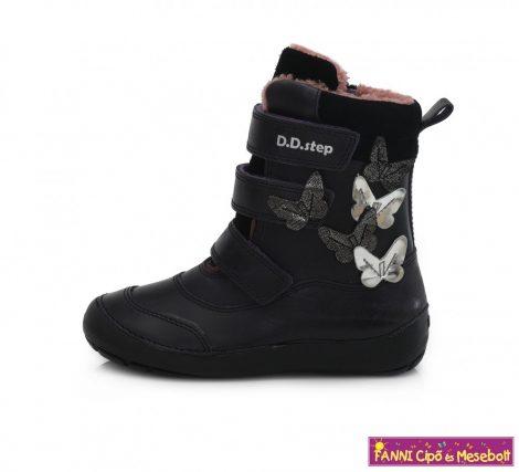 D.D. step lány téli bélelt vízlepergető gyerekcipő 31-36 s.lila pillangós
