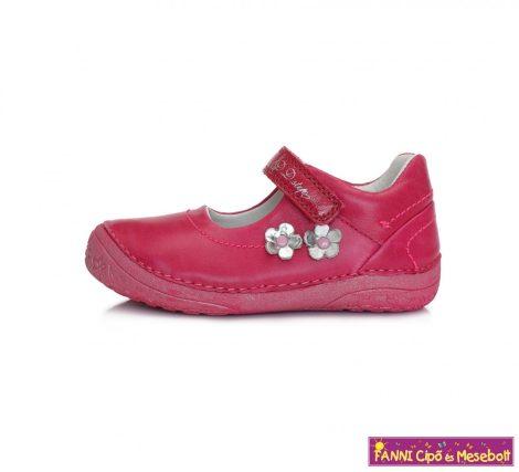 D.D. step lány szandálcipő/balerinacipő 25-30 málna-virágos