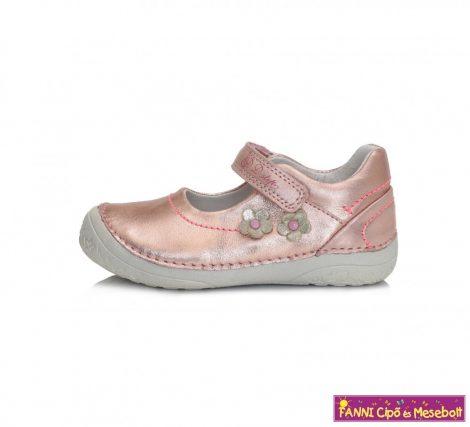 D.D. step lány szandálcipő/balerinacipő 25-30 rózsaszín-virágos