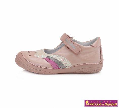 D.D. step lány szandálcipő/balerinacipő 25-30 rózsaszín felhős-szivárványos
