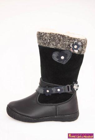 D.D.step lány téli bélelt vízlepergető csizma 25-30 fekete