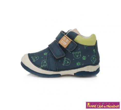 D.D. step fiú gyerekcipő 19-24 kék-zöld macis