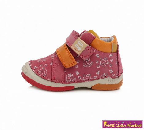 D.D. step lány gyerekcipő 19-24 s.pink cicás