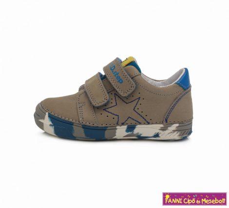 D.D. step fiú gyerekcipő 25-30 szürke-kék mintás talppal