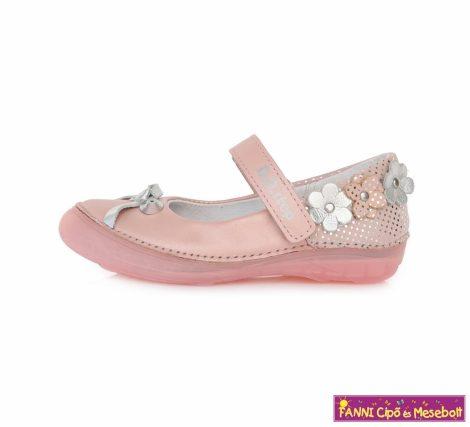 D.D. step lány szandálcipő/balerinacipő 25-30 pink virágos-masnis