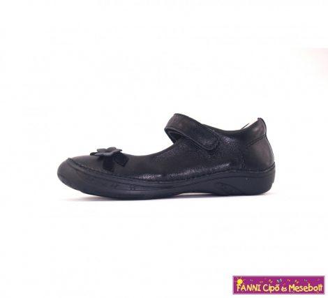 D.D. step lány szandálcipő/balerinacipő 28-33 fekete virágos