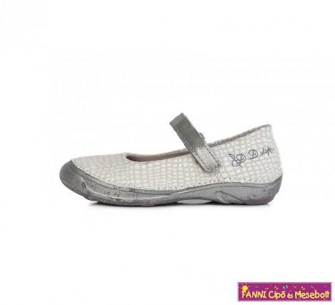 D.D. step lány szandálcipő/balerinacipő 25-30 fehér-ezüst