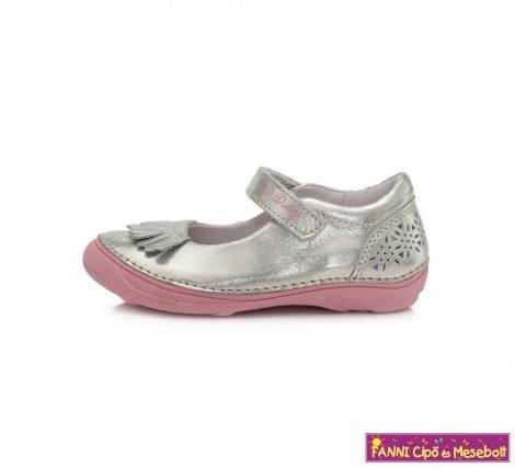 D.D. step lány szandálcipő/balerinacipő 25-30 ezüst-rózsaszín