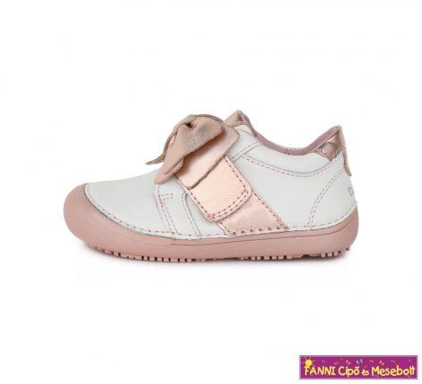 """D.D. step lány  """"Barefoot"""" gyerekcipő  25-30 fehér-pink masnis"""