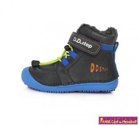 """D.D. step fiú """"Barefoot"""" téli bélelt vízlepergető gyerekcipő 31-36 fekete-kék"""