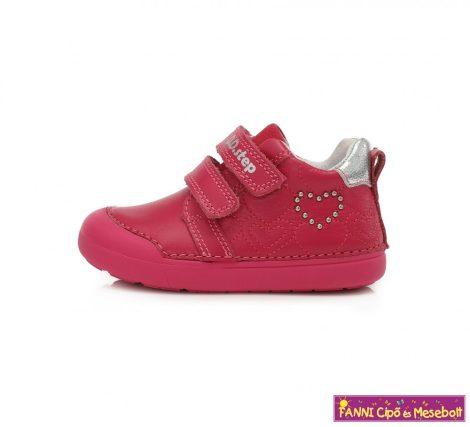 D.D. step lány gyerekcipő 20-25 Dark Pink szivecskés