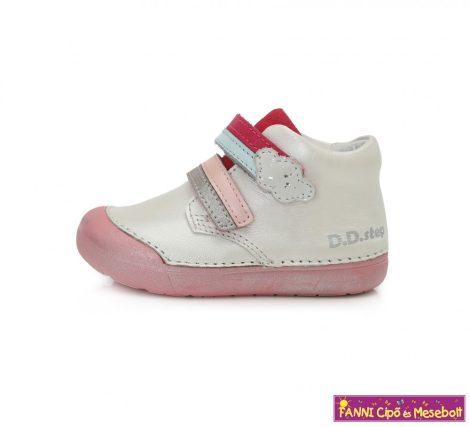 D.D. step lány gyerekcipő 20-25 fehér felhős-szivárványos