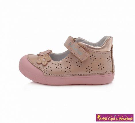 D.D. step lány szandálcipő/balerinacipő 20-25 pink virágos