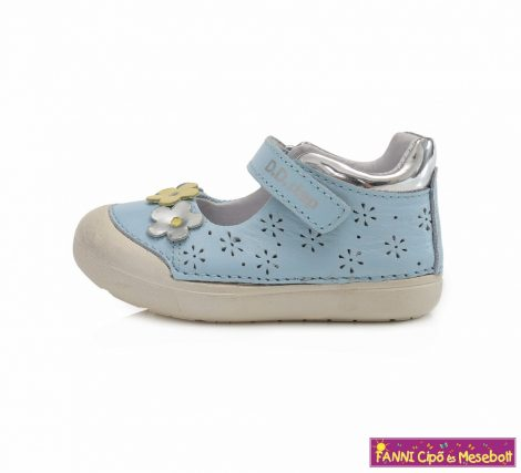 D.D. step lány szandálcipő/balerinacipő 20-25 v.kék virágos
