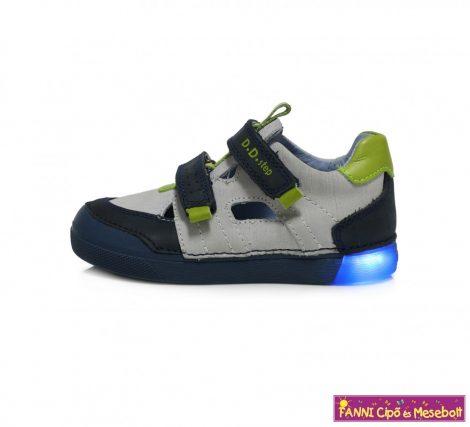 D.D. step fiú világító talpú szandálcipő 31-36 kék-fehér