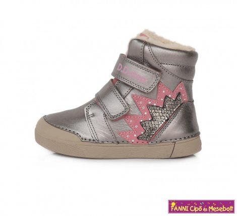 D.D. step lány téli bélelt vízlepergető gyerekcipő 25-30 pezsgő-pink