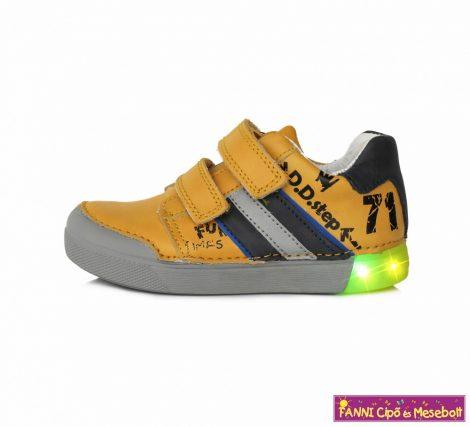 D.D. step fiú LED-villogós gyerekcipő 25-30 sárga