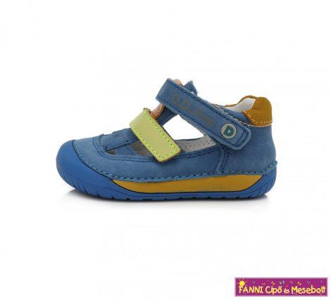 """D.D. step fiú """"Barefoot"""" szandálcipő 20-25 kék-sárga"""