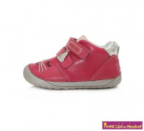 """D.D. step lány """"Barefoot"""" gyerekcipő 20-25 s.pink cicás"""