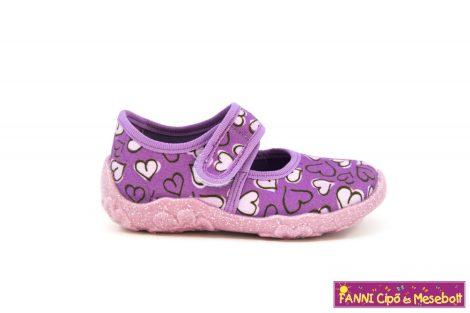 Superfit lány vászoncipő 23-30 BONNY lila szivecskés