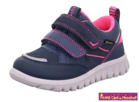 Superfit lány GORE-TEX/vízálló gyerekcipő/sportcipő SPORT7MINI 25-30 kék-rózsaszín