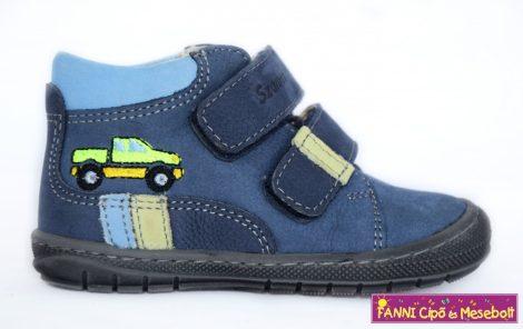Szamos első lépés fiú cipő 17-22 kék autós