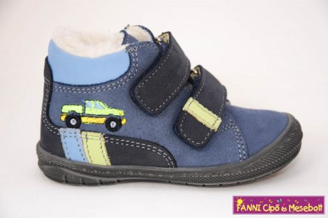 Szamos fiú első lépés téli bélelt gyerekcipő 17-24 kék autós